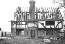 The Bayleaf farmhouse being dismantled